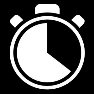 Black and White Stopwatch Icon