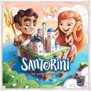 Picture of the boardgame box for Santorini