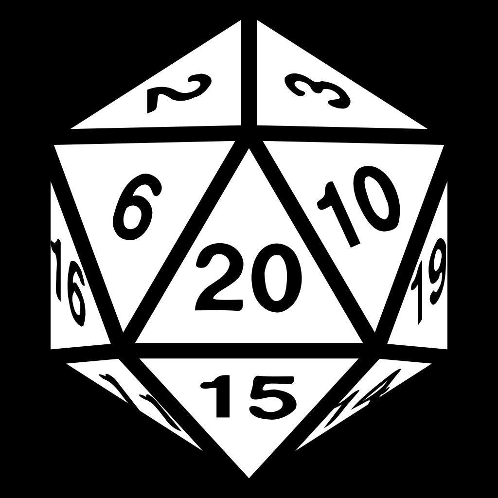 A d20 icon